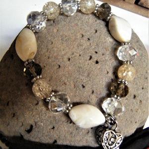 Prayer Locket Bracelet silver Alex  glass Crystals
